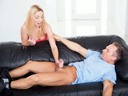 Seriously Hot Babysitter Wants His Dick Inside Her